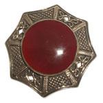 13027 - Bronsbrosch med Keltiskt motiv och sten