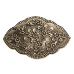 13048 - Bronshårspänne med blommotiv