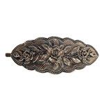 13051 - Bronshårspänne med blommotiv