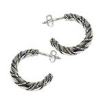 3008 - Silverörhängen Vikingacreoler