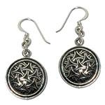 3012 - Silverörhängen med Keltiskt motiv