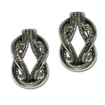 3056 - Silverörhängen Vikingar Tälgekvinnans med insticksplupp