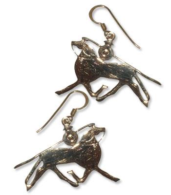 8009 -   Bronsörhängen Vikingahäst.