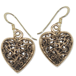 8066 - Bronsörhängen Keltiskt hjärta